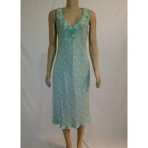 Boho Midi Silk Dress Size 12